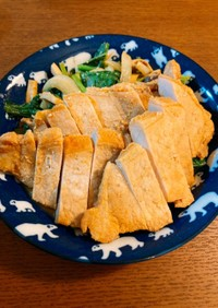 【冷凍】トンカツ用豚ロースで味噌トンテキ