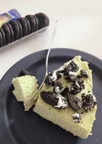 アイスで簡単!ねっちり抹茶チーズケーキ