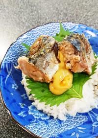 ◇簡単ランチ◇辛子醤油で食べるサバ缶丼