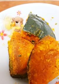 秋☆岩塩で食べるほくほくレンちんカボチャ