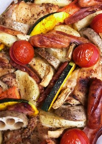 鳥もも肉とお野菜のオーブン焼き②