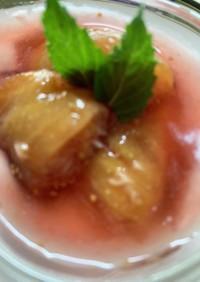 イチジク赤ワイン煮とヨーグルトクリーム