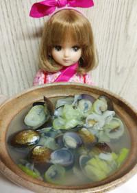 リカちゃん♡しじみ汁(お吸い物仕立て)