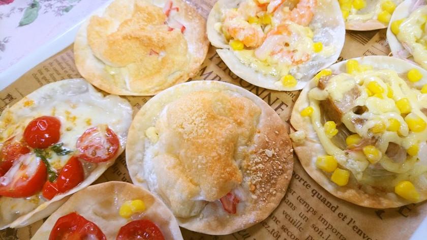 ♡メレンゲとカニカママヨの餃子ピザ♡