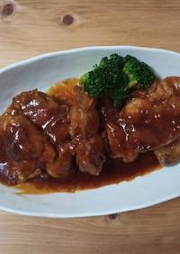 簡単でプチ贅沢。鶏もも肉のBBQソース煮
