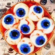 ハロウィン♪目玉ゼリー【血眼ミルク味】の写真
