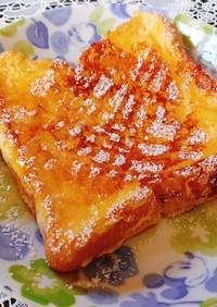 バニラアイスで簡単フレンチトースト♪