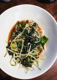 ツルムラサキ&水菜のツナ和え♡♡