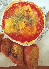 ★フライパン不要★トマト缶のチーズ焼き