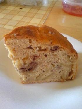 りんごとチョコカスタードのパウンドケーキ