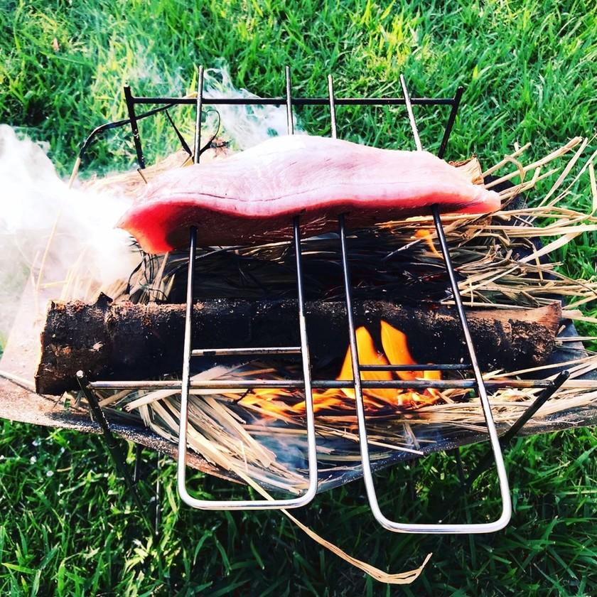 キャンプ飯 カツオのたたき
