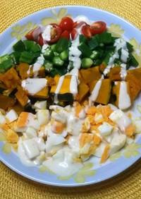 夏野菜のヘルシーコブサラダ