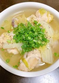 手羽元と白菜の体あったかごちそうスープ