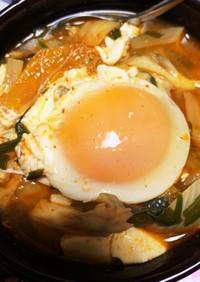 アサリは無くとも余り物で簡単純豆腐チゲ