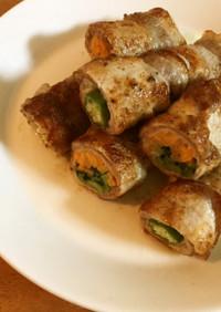 野菜の豚肉巻き