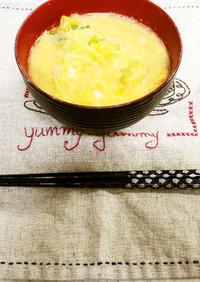 ✨白菜とネギと卵の味噌汁✨