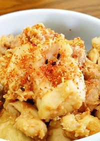 秋鮭白子のにんにく味噌。