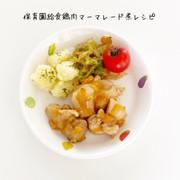 保育園給食 鶏肉マーマレード煮の写真
