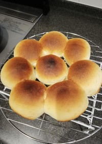 ちぎりパン HB使用 レンジ発酵