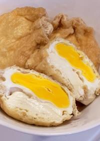 塩豆腐入り 卵の巾着煮