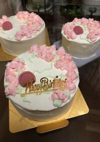 薔薇のデコレーションケーキ