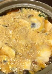 【簡単】小松菜としめじ、とうふの卵とじ煮