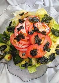 レタスとトマトときゅうりのやみつきサラダ