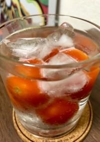 冷凍ミニトマトでいいちこハイボール