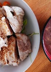 ホットクックでジューシー蒸し鶏とスープ