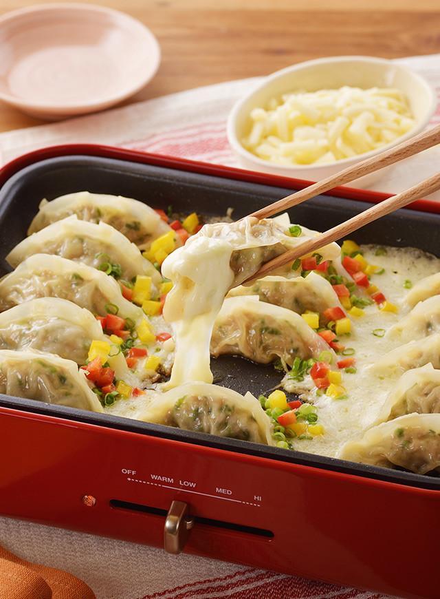ホットプレートで北海道♪チーズ餃子