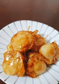 お弁当に❢串刺しベビーホタテの照り焼き