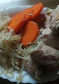 蒸し野菜の豚肉巻き