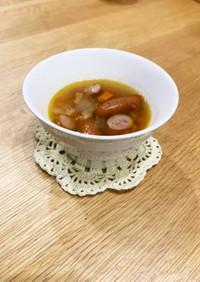 色々野菜とソーセージのスープ