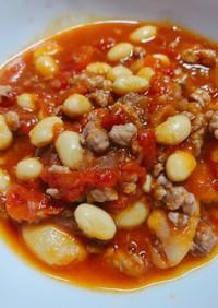白インゲン豆のチリビーンズ