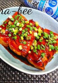 簡単激ウマ♪肉巻き焼き豆腐の蒲焼き