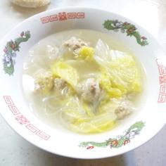 白菜丸子湯(白菜と肉団子のスープ)
