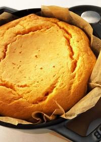 STAUBでサツマイモチーズケーキ