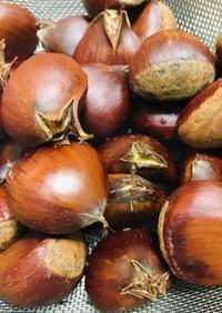 栗の皮が簡単に剥ける方法♬栗の茹で方