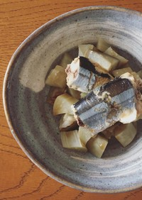 秋刀魚と白ナスの酒蒸し ポン酢かけ