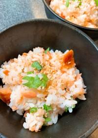 焼き鮭と大葉の簡単ちらし寿司☆