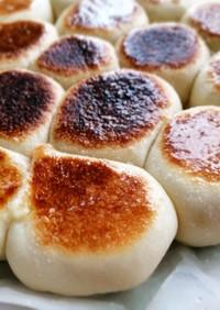 塩バター☆フライパンでパン