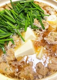 簡単♫ あっさりスープの 豚団子鍋