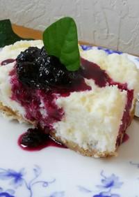 『とろみの精』で作るレアチーズケーキ