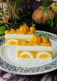 南瓜と卵のサンドイッチケーキ*ハロウィン