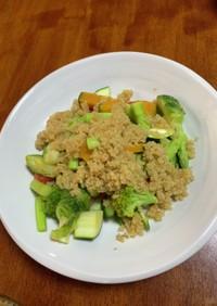 一皿で大満足!キヌアの10品目サラダ