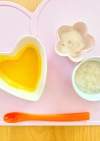 離乳食中期献立 パン粥とかぼちゃのスープ