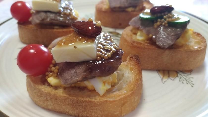 牛ステーキ肉のハニーゴールデンマスタード