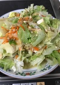 レタスと豆腐の炒め物