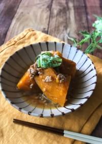 王道煮物♡かぼちゃのそぼろ煮