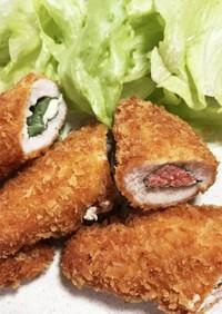 鶏ささ身のチーズ&明太子フライ♬